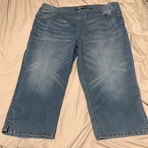 Plus size pull on jeans